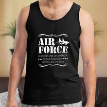 Load image into Gallery viewer, Designs by MyUtopia Shout Out:Air Force Armed Forces Day Support Those Who Serve Unisex Tank