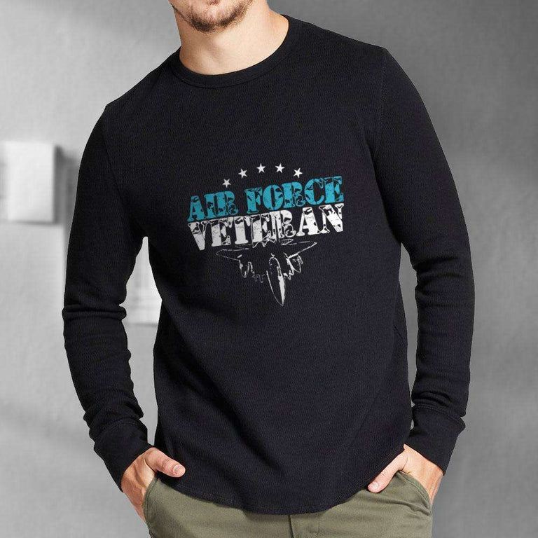 Designs by MyUtopia Shout Out:Air Force Veteran Long Sleeve Ultra Cotton T-Shirt