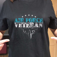 Load image into Gallery viewer, Designs by MyUtopia Shout Out:Air Force Veteran Unisex T-Shirt