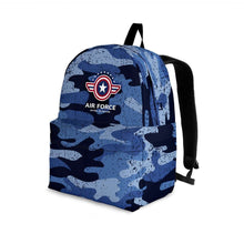 Load image into Gallery viewer, Designs by MyUtopia Shout Out:Air Force Wings Backpack