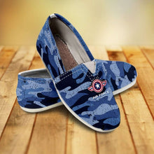 Load image into Gallery viewer, Designs by MyUtopia Shout Out:Air Force Wings Casual Canvas Slip on Shoes Women's Flats,US6 (EU36) / Blue Camo,Slip on Flats