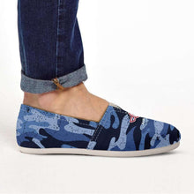 Load image into Gallery viewer, Designs by MyUtopia Shout Out:Air Force Wings Casual Canvas Slip on Shoes Women's Flats