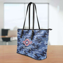 Load image into Gallery viewer, Designs by MyUtopia Shout Out:Air Force Wings Faux Leather Totebag Purse