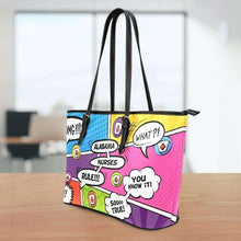 Load image into Gallery viewer, Designs by MyUtopia Shout Out:Alabama Nurses Rule! Comic Strip Faux Leather Totebag Purse