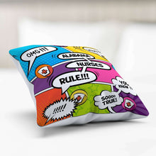 Load image into Gallery viewer, Designs by MyUtopia Shout Out:Alabama Nurses Rule! Comic Strip Pillowcase