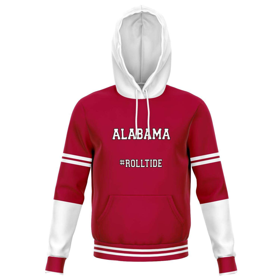 Designs by MyUtopia Shout Out:Alabama #RollTide Fleece Lined Fashion Unisex Hoodie,XS,Fashion Hoodie - AOP