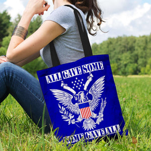 Designs by MyUtopia Shout Out:All Gave Some Some Gave All Memorial Day Fabric Totebag Reusable Shopping Tote