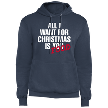 Load image into Gallery viewer, Designs by MyUtopia Shout Out:All I Want For Christmas Is Food - Core Fleece Unisex Pullover Hoodie,Navy / S,Sweatshirts