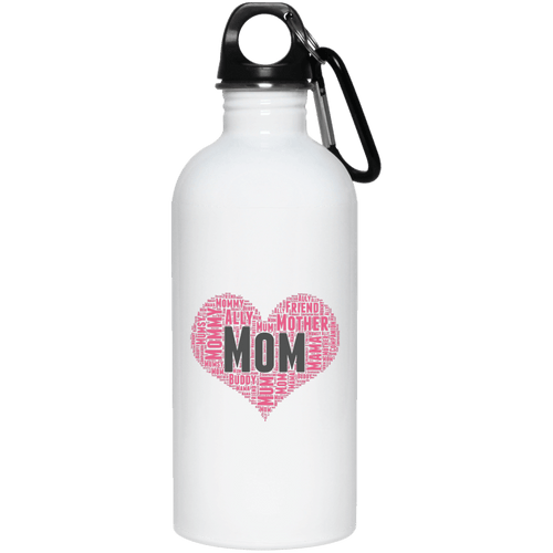 Designs by MyUtopia Shout Out:All the Ways Mom is Special in Your Heart 20 oz. Stainless Steel Stainless Steel Reusable Water Bottle,White / One Size,Water Bottles