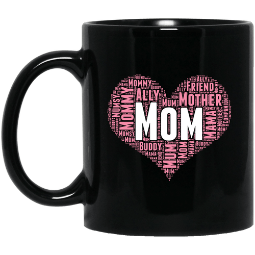 Designs by MyUtopia Shout Out:All the Ways Mom is Special in Your Heart Ceramic Coffee Mug - Black,11 oz / Black,Ceramic Coffee Mug