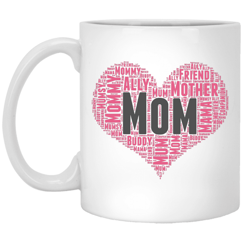 Designs by MyUtopia Shout Out:All the Ways Mom is Special in Your Heart Ceramic Coffee Mug - White,11 oz / White,Ceramic Coffee Mug