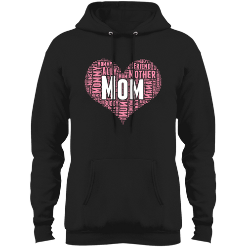 Designs by MyUtopia Shout Out:All the Ways Mom is Special in Your Heart Core Fleece Pullover Hoodie,Jet Black / S,Sweatshirts