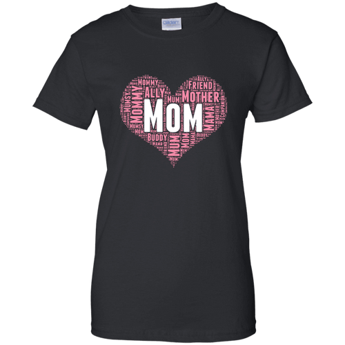 Designs by MyUtopia Shout Out:All the Ways Mom is Special in Your Heart Ladies' 100% Cotton T-Shirt,Black / X-Small,Ladies T-Shirts