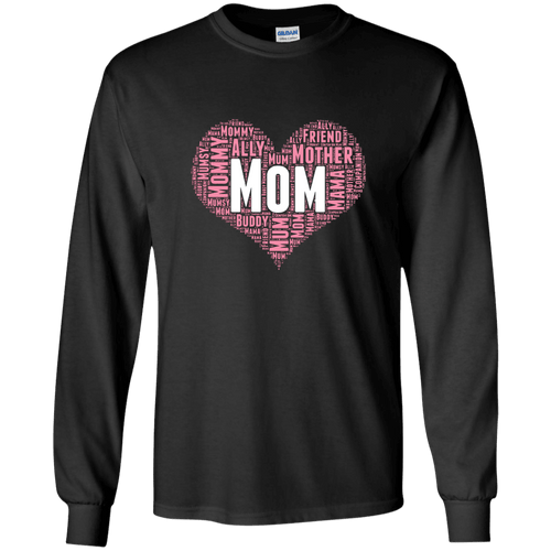 Designs by MyUtopia Shout Out:All the Ways Mom is Special in Your Heart Long Sleeve Ultra Cotton T-Shirt,Black / S,Adult Unisex T-Shirt