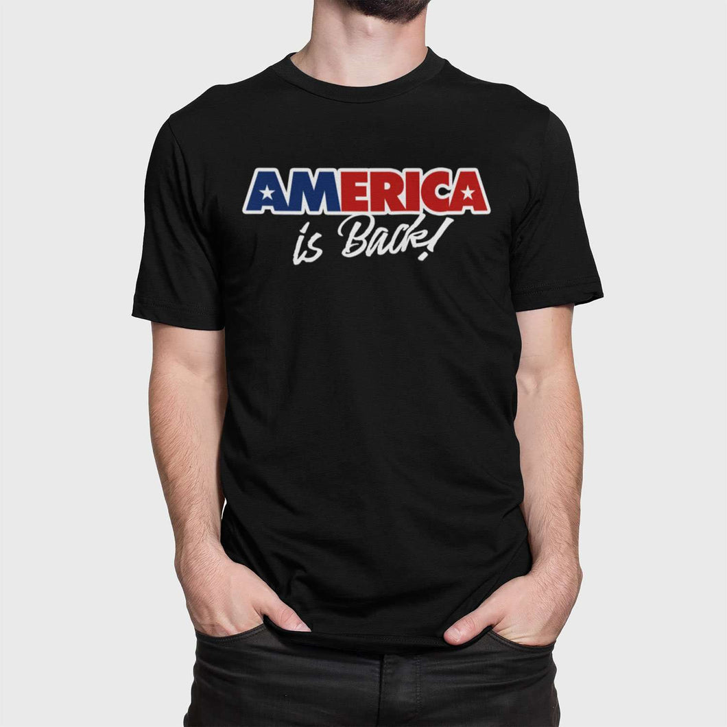 Designs by MyUtopia Shout Out:America Is Back Unisex Jersey Short-Sleeve T-Shirt