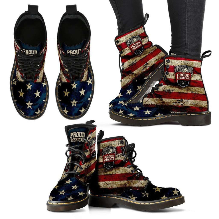Designs by MyUtopia Shout Out:American Pride Suede Boots,Ladies / Ladies 5 / Red/Blue/Off-White,Lace-up Boots