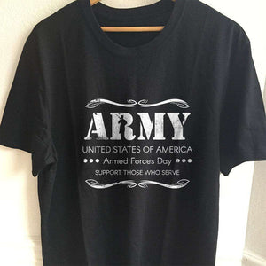 Designs by MyUtopia Shout Out:Army - Armed Forces Day - Support Those Who Serve Adult Unisex T-Shirt,S / Black,Adult Unisex T-Shirt