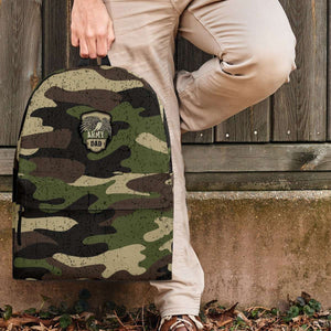 Designs by MyUtopia Shout Out:Army Dad Camouflage Backpack,Large (18 x 14 x 8 inches) / Adult (Ages 13+) / Camouflage,Backpacks
