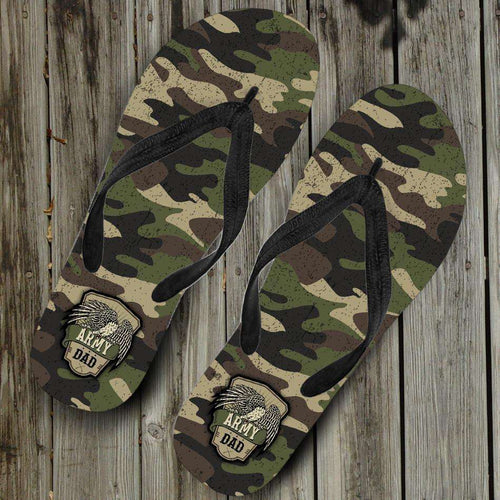Designs by MyUtopia Shout Out:Army Dad Camouflage Flip-Flops