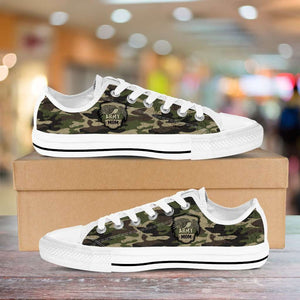 Designs by MyUtopia Shout Out:Army Mom / Army Dad Camouflage Low Cuts