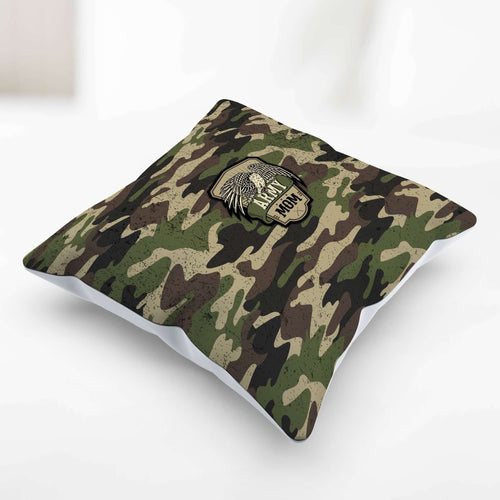 Designs by MyUtopia Shout Out:Army Mom Camo Decorative Pillowcase