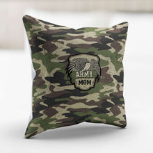 Load image into Gallery viewer, Designs by MyUtopia Shout Out:Army Mom Camo Decorative Pillowcase