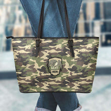 Load image into Gallery viewer, Designs by MyUtopia Shout Out:Army Mom Camo Faux Leather Totebag Purse  Medium