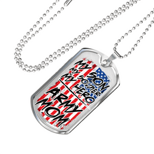 Load image into Gallery viewer, Designs by MyUtopia Shout Out:Army Mom Personalized Engravable Keepsake Dog Tag