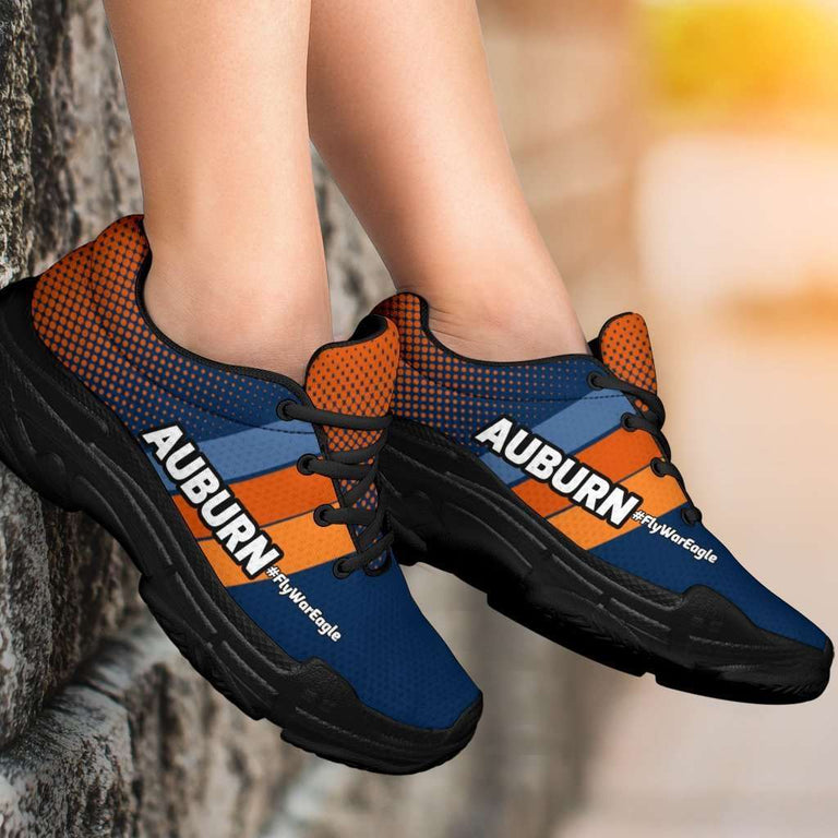 Designs by MyUtopia Shout Out:Auburn #FlyWarEagle Chunky Sneakers