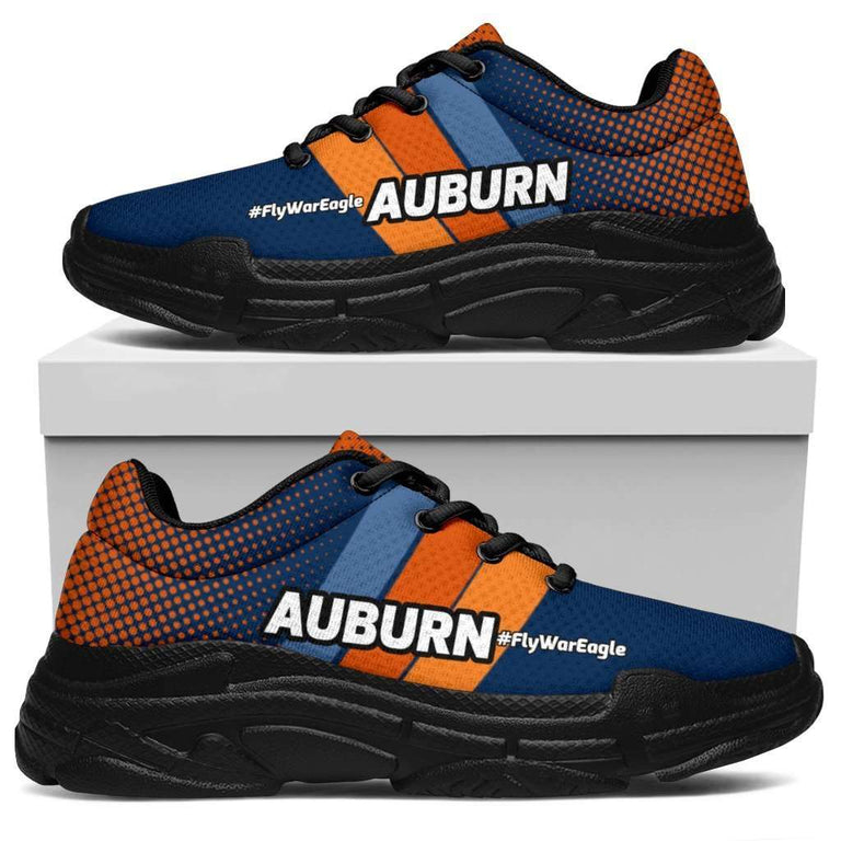 Designs by MyUtopia Shout Out:Auburn #FlyWarEagle Chunky Sneakers,Women's / Ladies US5.5 (EU36) / Multi,Chunky Sneakers