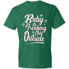 Load image into Gallery viewer, Designs by MyUtopia Shout Out:Baby It's Freaking Cold Outside - Lightweight Unisex T-Shirt,Kelly Green / S,Adult Unisex T-Shirt