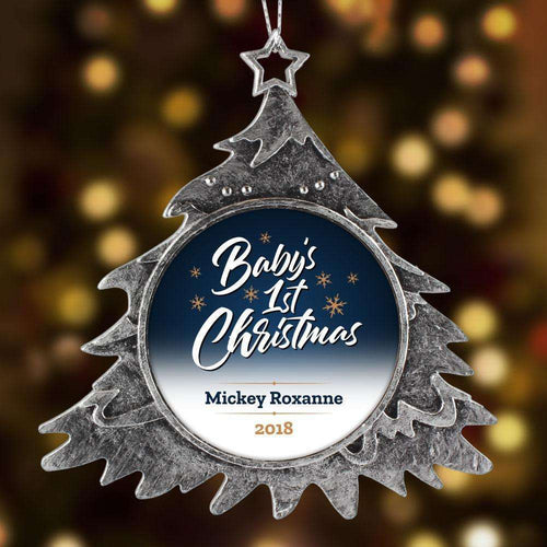 Designs by MyUtopia Shout Out:Baby's 1st Christmas Personalized Keepsake Ornament