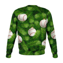 Load image into Gallery viewer, Designs by MyUtopia Shout Out:Baseball Christmas Tree - Funny Christmas Fleece Lined Fashion Sweatshirt