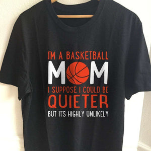 Designs by MyUtopia Shout Out:Basketball Mom Adult Unisex T-Shirt,S / Black,Adult Unisex T-Shirt