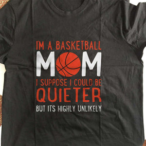 Designs by MyUtopia Shout Out:Basketball Mom Adult Unisex T-Shirt