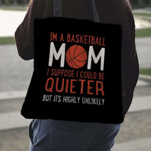 Load image into Gallery viewer, Designs by MyUtopia Shout Out:Basketball Mom Fabric Totebag Reusable Shopping Tote