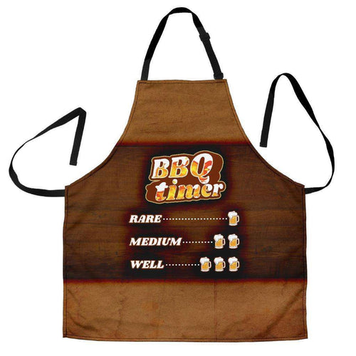 Designs by MyUtopia Shout Out:BBQ Timer Dad Funny Apron, Kitchen, Baking, BBQ, Grilling