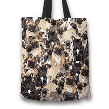 Load image into Gallery viewer, Designs by MyUtopia Shout Out:Beagles all over print Dog Collage Fabric Totebag Reusable Shopping Tote,French Bulldog Collage,Reusable Fabric Shopping Tote Bag