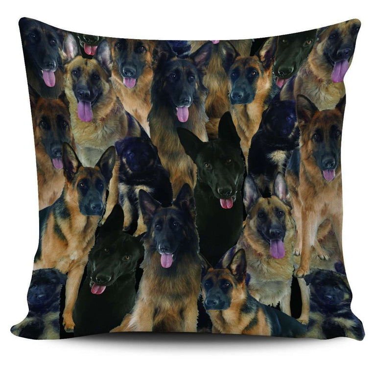 Designs by MyUtopia Shout Out:Beagles all over print Dog Collage Pillowcases,German Shepherd Collage,Pillowcases