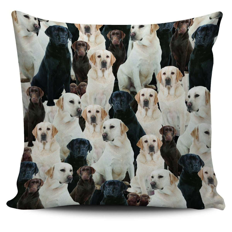 Designs by MyUtopia Shout Out:Beagles all over print Dog Collage Pillowcases,Lab-Retriever Collage,Pillowcases
