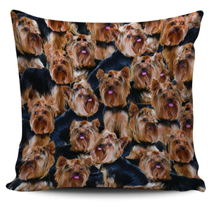 Designs by MyUtopia Shout Out:Beagles all over print Dog Collage Pillowcases,Yorkshire Terrier Collage,Pillowcases