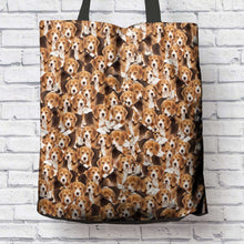 Load image into Gallery viewer, Designs by MyUtopia Shout Out:Beagles Fabric Totebag Reusable Shopping Tote