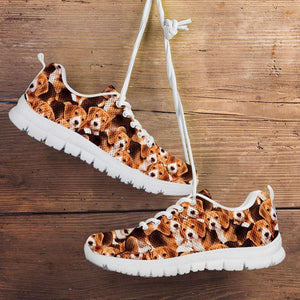 Designs by MyUtopia Shout Out:Beagles Running Shoes,Kid's / Kid's 11 CHILD (EU28) / Brown,Running Shoes