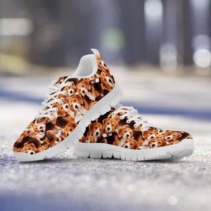Designs by MyUtopia Shout Out:Beagles Running Shoes