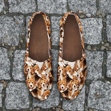 Load image into Gallery viewer, Designs by MyUtopia Shout Out:Beagles Women's Flats