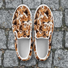 Load image into Gallery viewer, Designs by MyUtopia Shout Out:Beagles Womens Slip-on Shoes