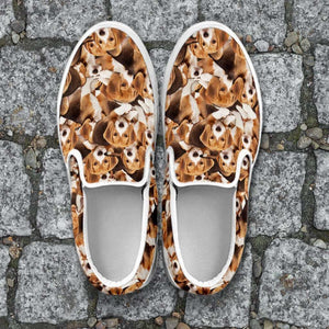 Designs by MyUtopia Shout Out:Beagles Womens Slip-on Shoes