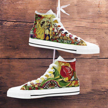 Load image into Gallery viewer, Designs by MyUtopia Shout Out:Beauty and the Beast Canvas High Top Shoes V2
