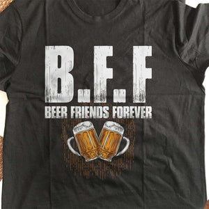 Designs by MyUtopia Shout Out:Beer Friends Forever Drinking Humor Unisex T-Shirt