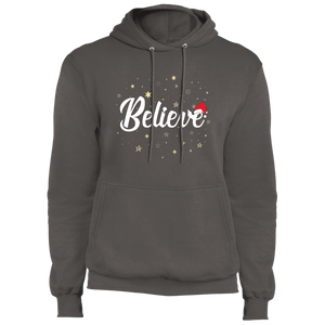 Designs by MyUtopia Shout Out:Believe - Core Fleece Unisex Pullover Hoodie,Charcoal / S,Sweatshirts